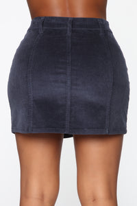On My Level Corduroy Mini Skirt - Navy Angle 5