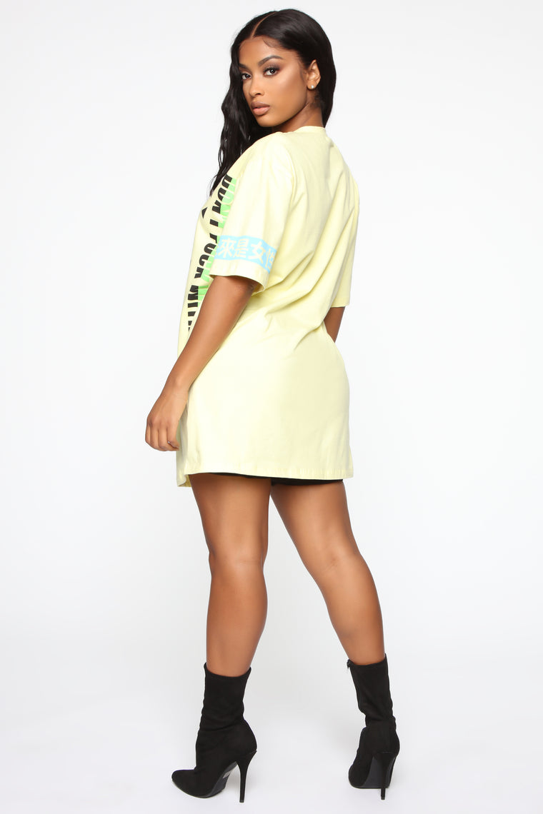 Giving You Signs Tunic Top - Yellow