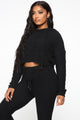 Couldn't Be Cozier Sweater Set - Black