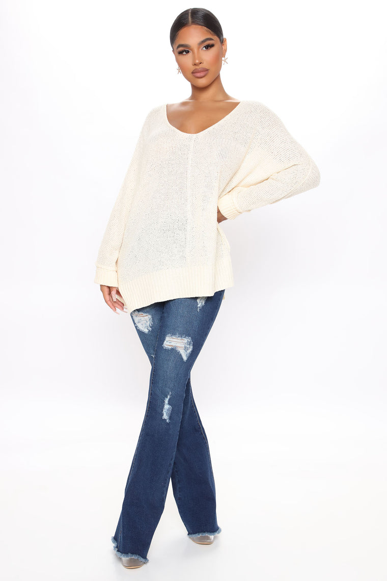Late Nights At The Beach Oversized Sweater - Ivory