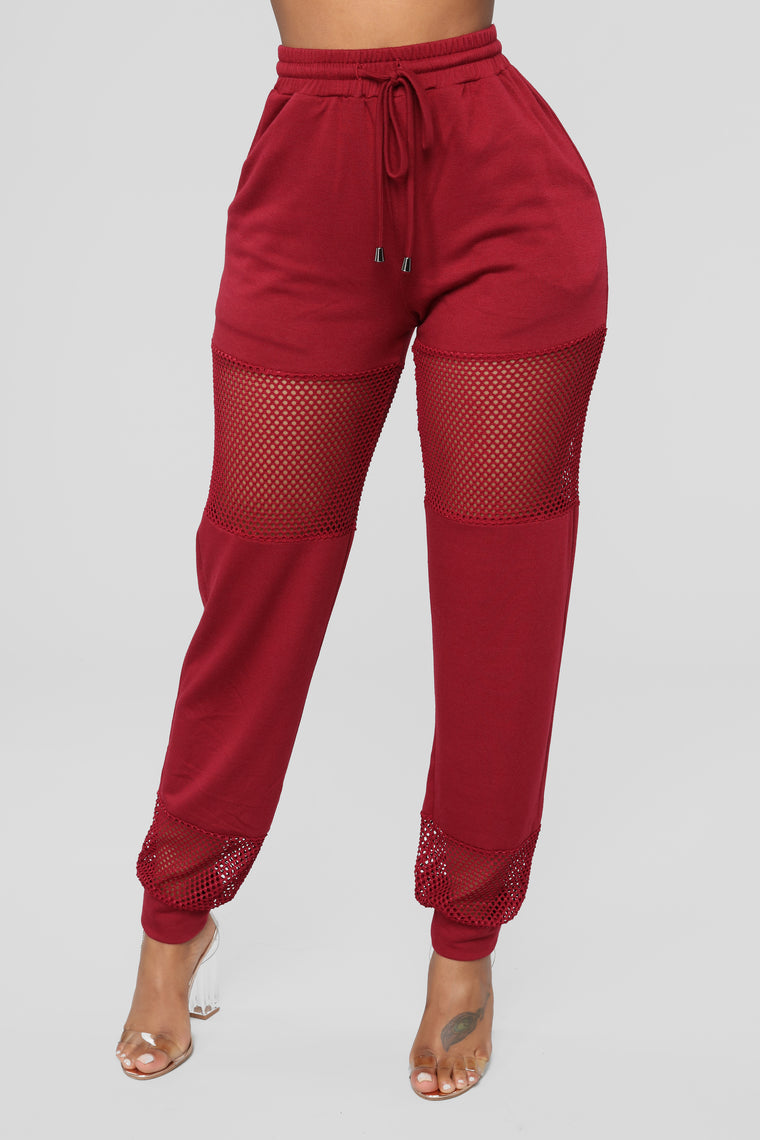 Fish Out Of Water Pant Set - Burgundy