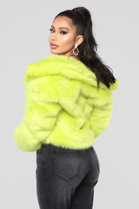 Fureal Collared Jacket - Lime