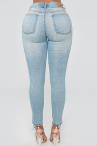 Tough Love High Rise Jeans - Medium Blue Wash