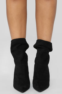Made It Obvious Booties - Black