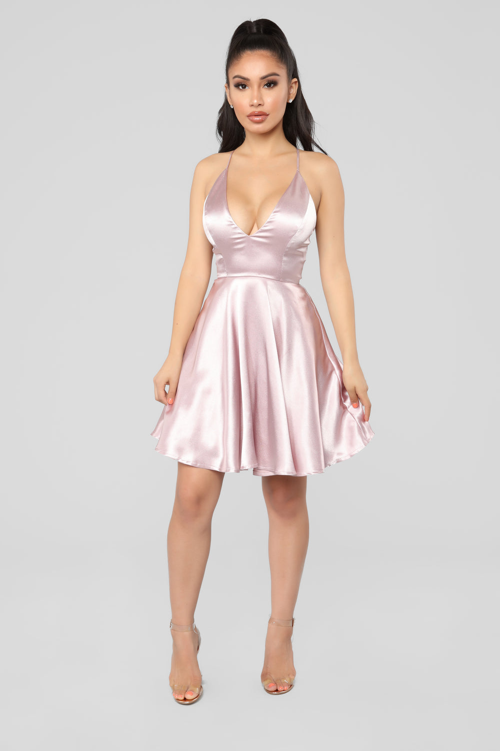 Party Perfection Flare Dress - Mauve 16573ed11