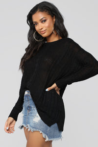 We Found Love Sweater - Black