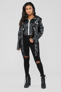 Just Throw It On Jacket - Black