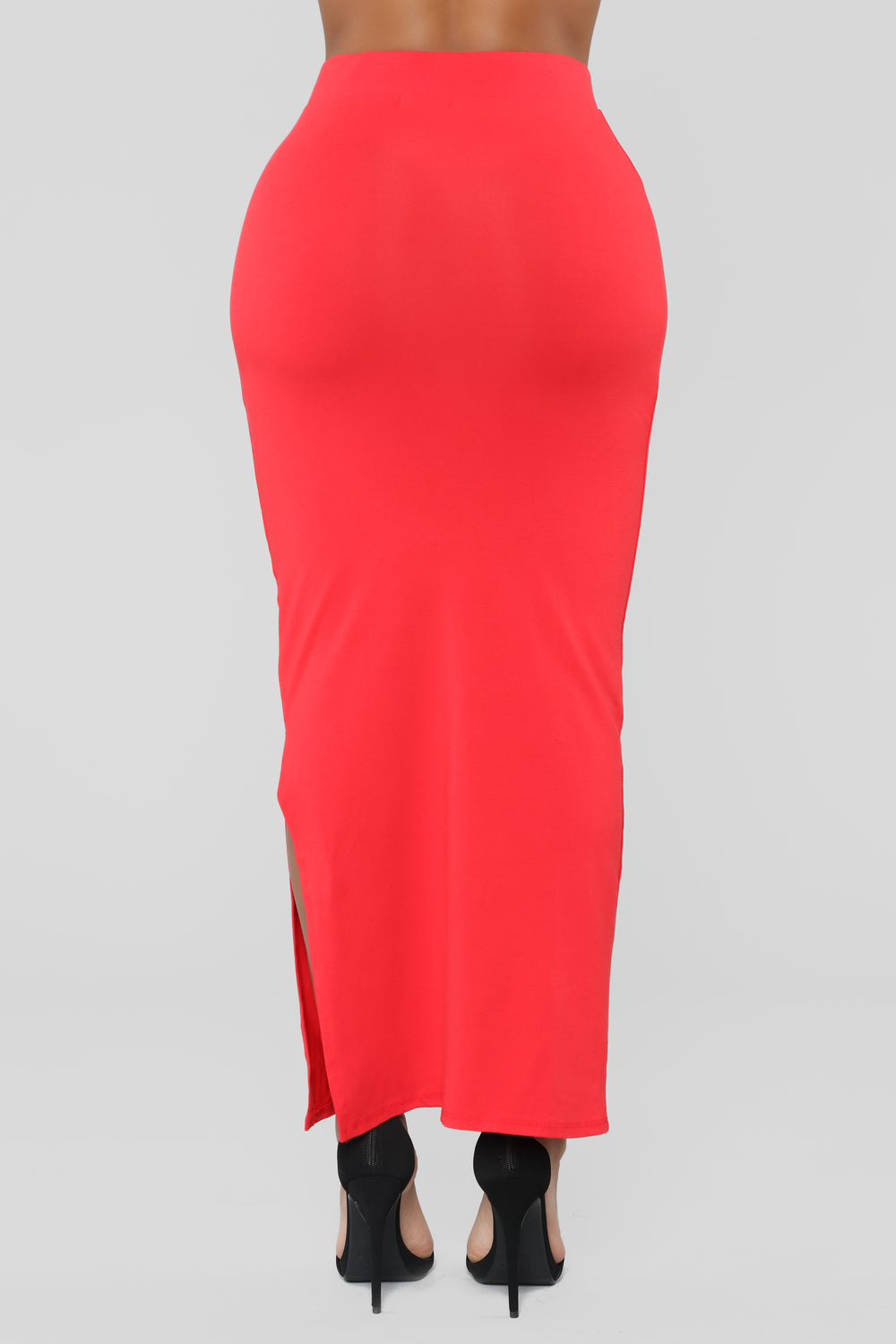 Every Side Slit Skirt - Red