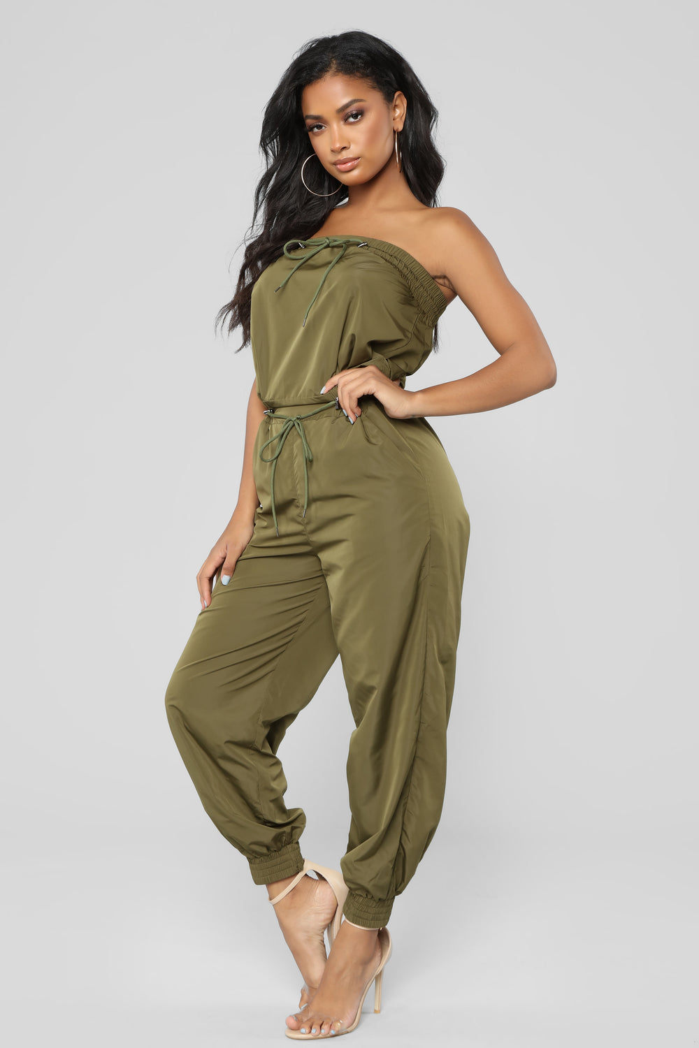 Lovin' You Tube Jumpsuit - Olive