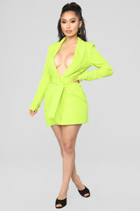 Brighten My Way Jacket - Lime