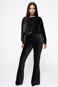 In My Feels Pant Set - Black Angle 1