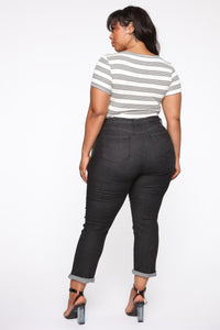 Need A New High Rise Mom Jeans - Black Angle 12
