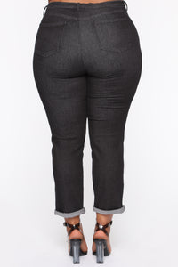 Need A New High Rise Mom Jeans - Black Angle 11