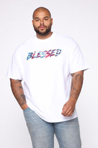 Blessed Tie Dye Short Sleeve Tee - White/combo Angle 6