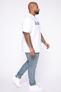 Blessed Tie Dye Short Sleeve Tee - White/combo Angle 9