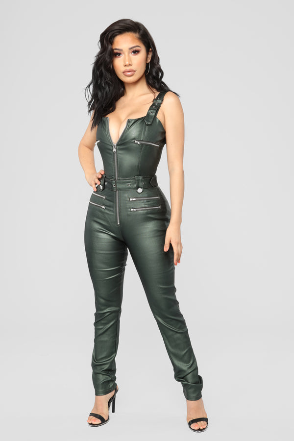 75ed64d93a9c Hunt You Down Overall Jumpsuit - Hunter