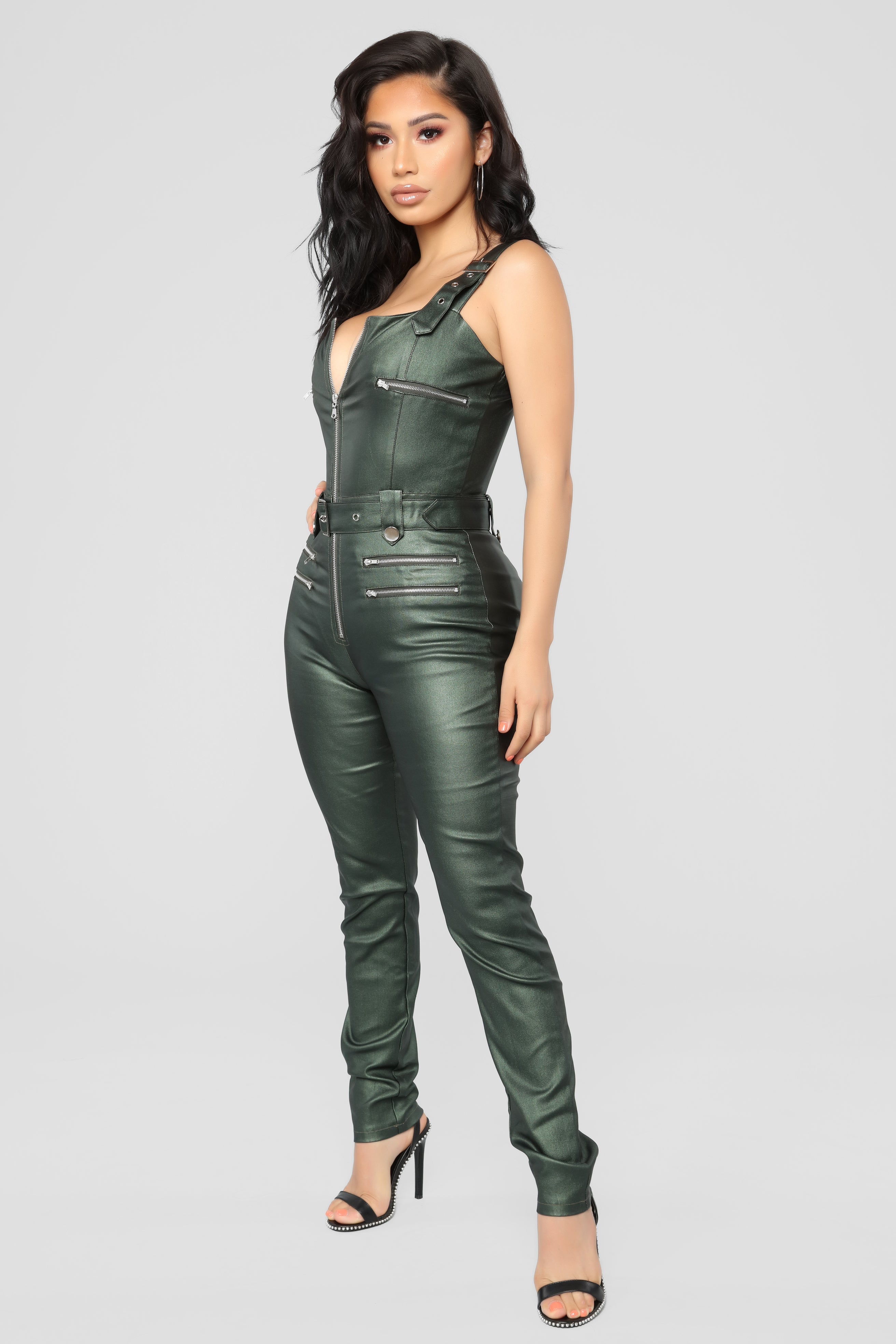 4c4fba3d5f0d Hunt You Down Overall Jumpsuit - Hunter