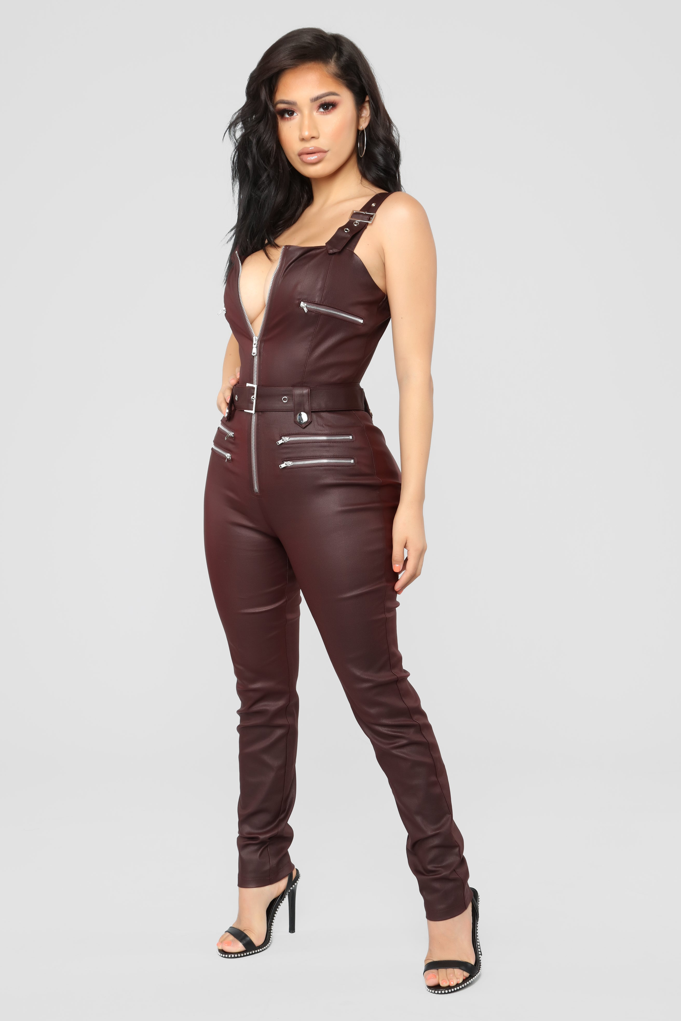 6f8a4b8613c Hunt You Down Overall Jumpsuit - Burgundy