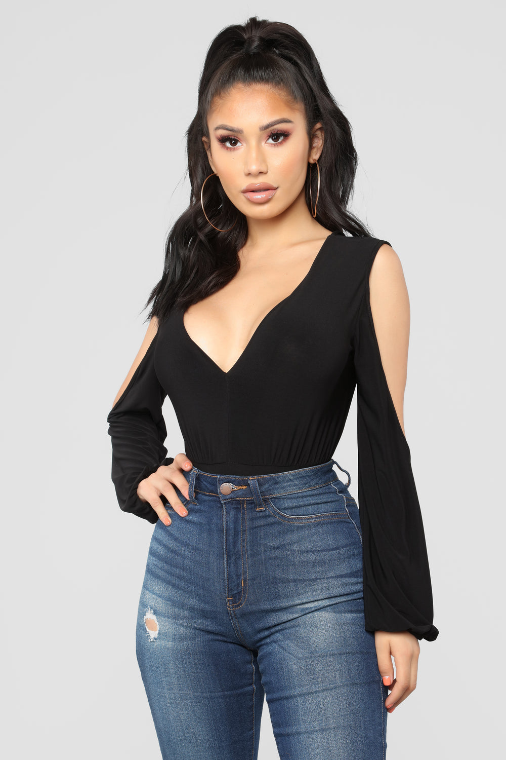 Not Serious Bodysuit - Black