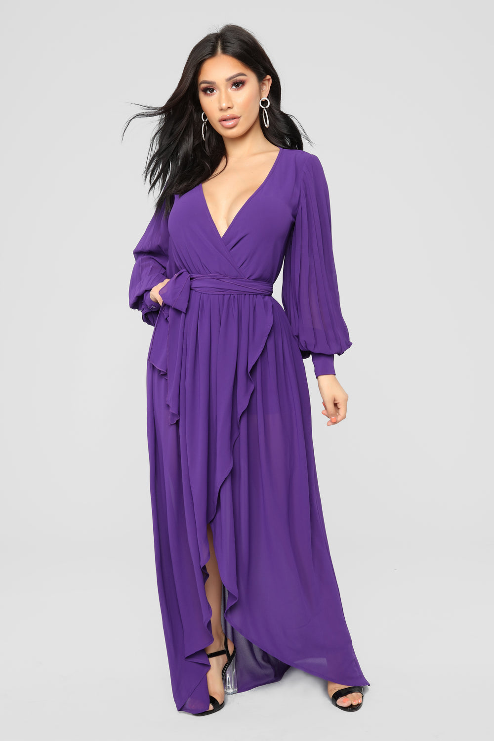 Say Nothing Dress - Purple