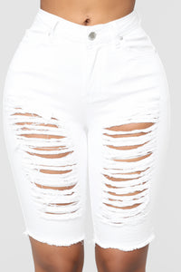 Wave Crasher Bermuda Shorts - White