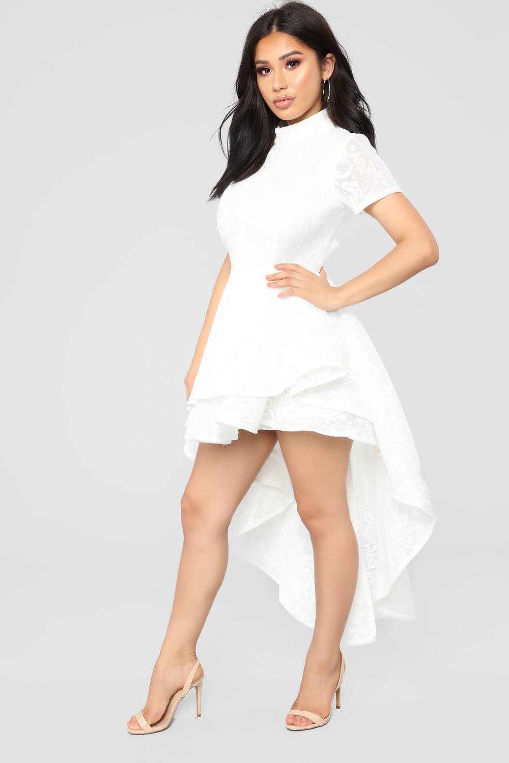 On The Verge Ruffle Dress - White
