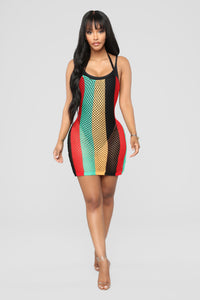 Rasta Babe Cover Up - MultiColor