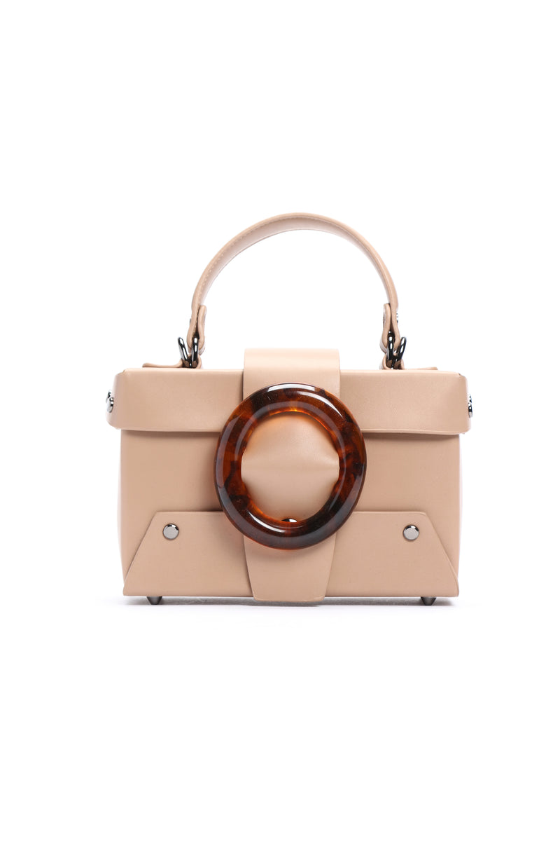 Work Lucited Crossbody Bag - Taupe