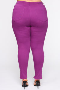 Dangerous In Love Skinny Jeans - Purple