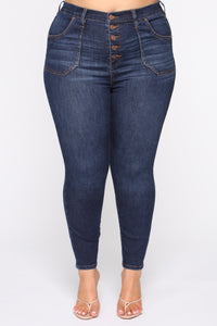 Nequita II High Rise Skinny Jeans - Dark Wash