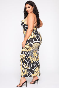 Confident By Design Maxi Dress - Black/Combo