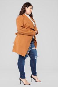 Manhattan Coat - Cognac Angle 10