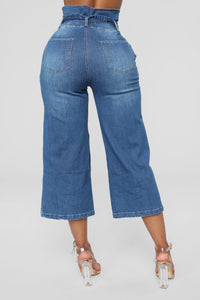 That Look Wide Leg Jeans - Medium Blue Wash