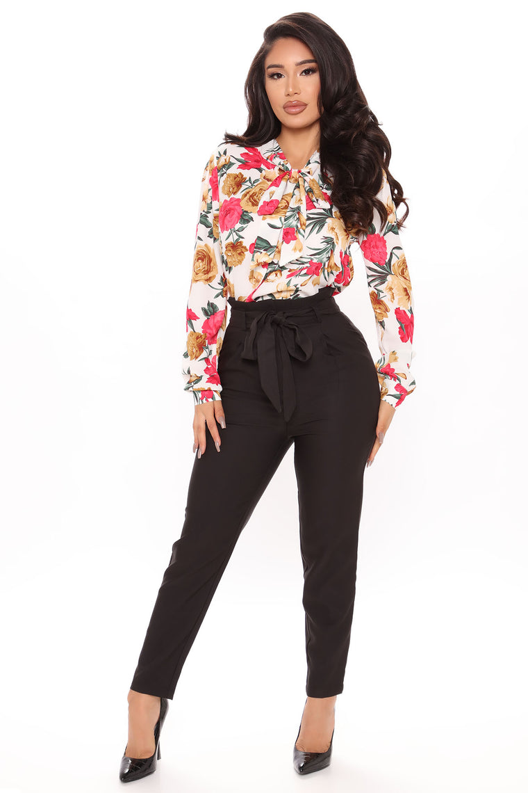 Tie Me If You Want Slouch Trouser - Black