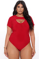 Cut Loose Bodysuit - Red