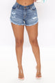 Shadow Dancer Denim Shorts - Medium Blue Wash