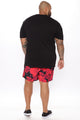 Summer Vibes Swim Trunk - Black/Red