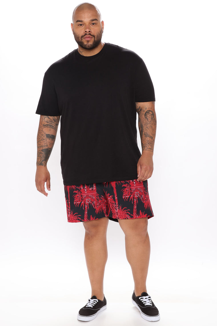 Summer Vibes Swim Trunk - Red/combo