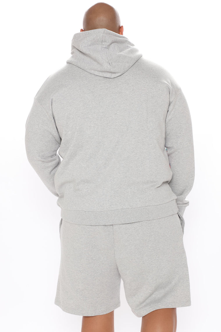Crossover Hoodie - Heather Grey