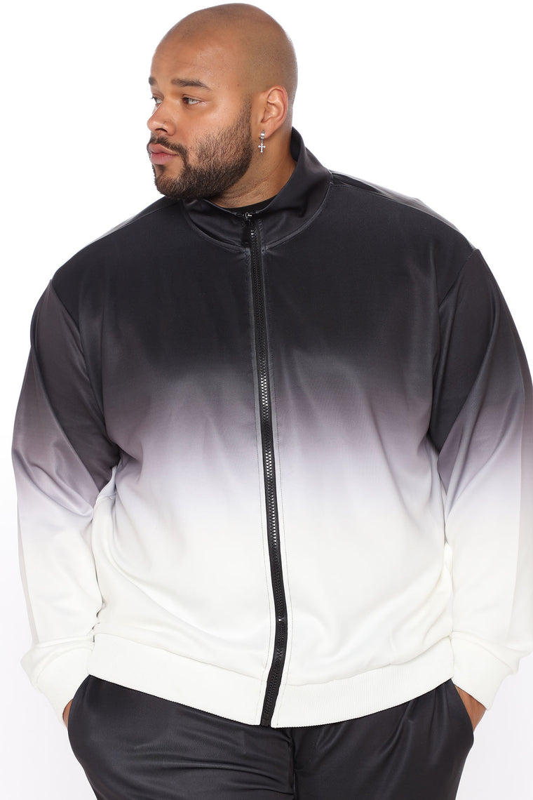 Otis Ombre Track Jacket - White/Black