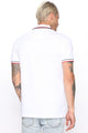 Benjamin Short Sleeve Polo - White/combo