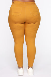 Perfect Butt Skinny Jean - Mustard Angle 6