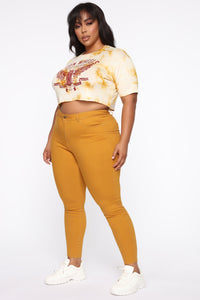 Perfect Butt Skinny Jean - Mustard Angle 5