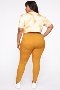Perfect Butt Skinny Jean - Mustard Angle 1