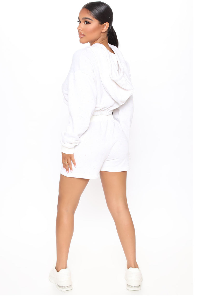 Welcome To The Casa Pullover And Shorts Set - White/combo