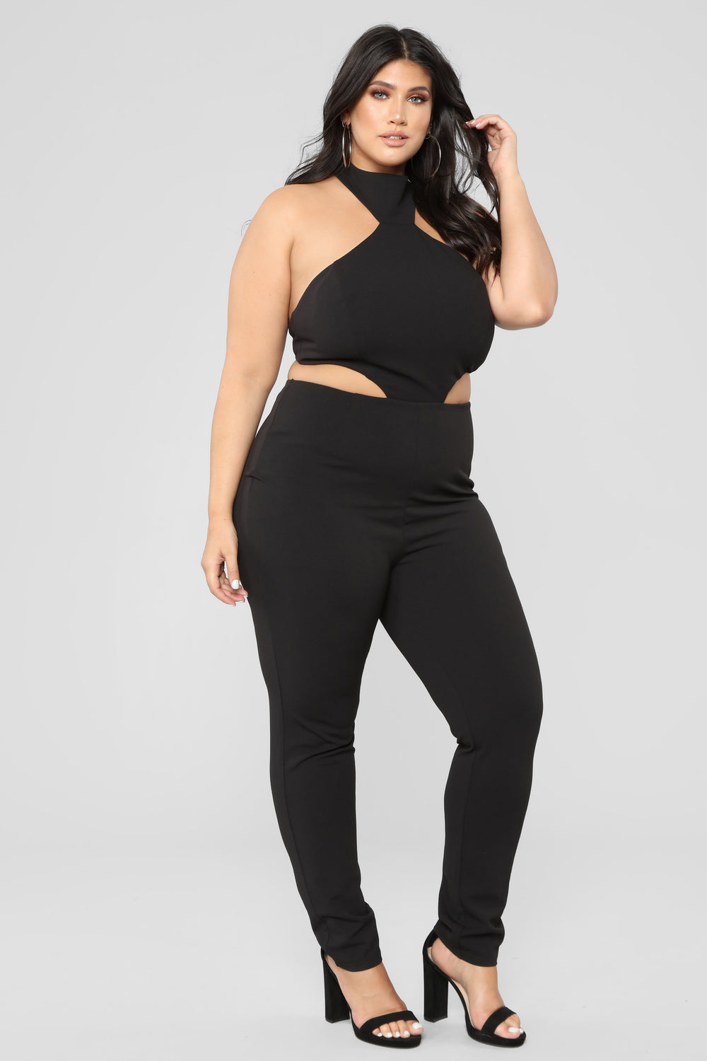 Cut To The Chase Jumpsuit - Black