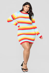 Pot Of Gold Stripe Dress - MultiColor Angle 5