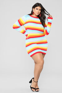 Pot Of Gold Stripe Dress - MultiColor Angle 7