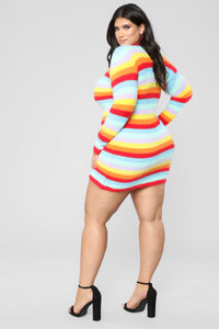 Pot Of Gold Stripe Dress - MultiColor Angle 8