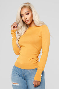 Doesn't Matter To Me Sweater - Mustard